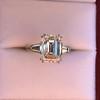 3.76ctw Emerald Cut Diamond Ring, by Leon Mege GIA H VS 12