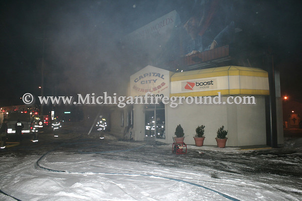 1/30/11 - Lansing commercial building fire, 1026 W. Saginaw