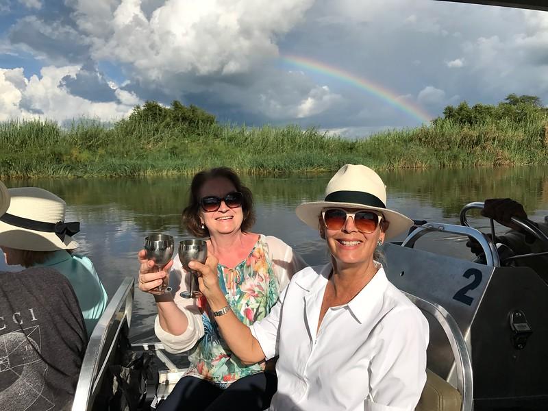Cocktails on the Zambezi. Lisa and AnneMarie - Lisa Swenson