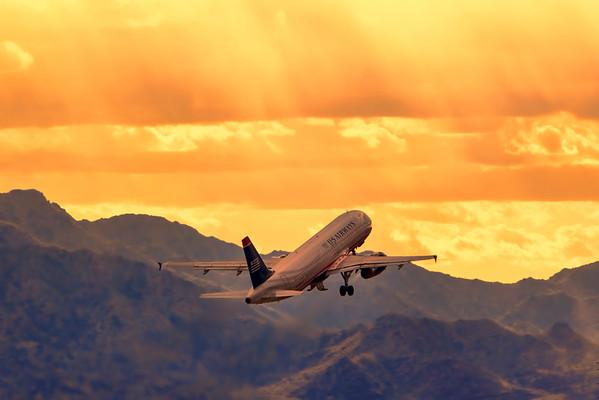 Sunset Departure, Phoenix, Arizona