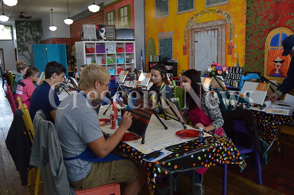 10-16-16 NEWS Ayersville NHS Painting for KAVIC