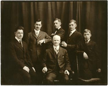 Heber James Carlisle and Martha Maria Wright and family
