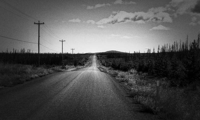 Long empty Road, Caribou Plateau