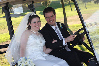 Amy and Justin at Lone Tree Golf Course