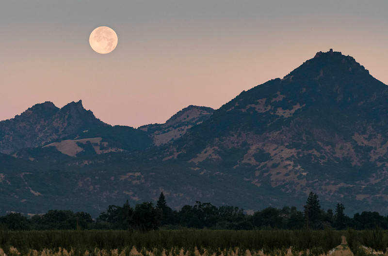 Moon over Sutter Buttes