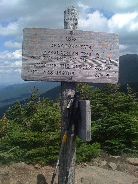 Trail Marker above tree line