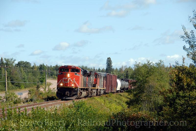 Canadian National<br /> River Glade, New Brunswick<br /> September 9, 2009