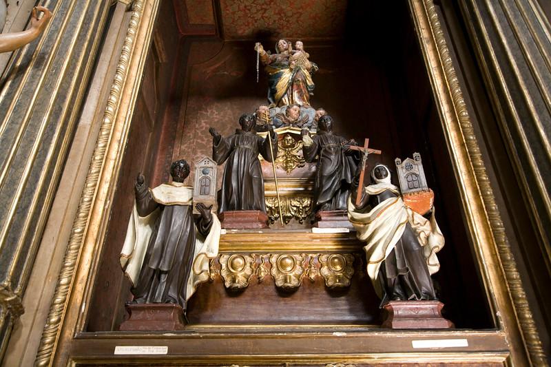 The Virgin Mary and some African Saints, Graça church, Lisbon, Portugal