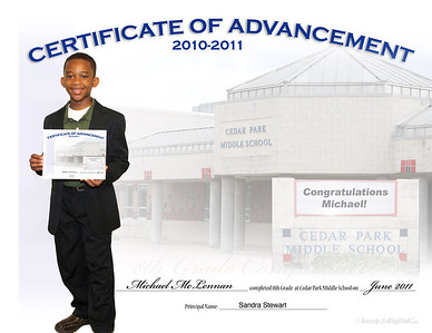 Keedjit™ Certificates/Awards Samples