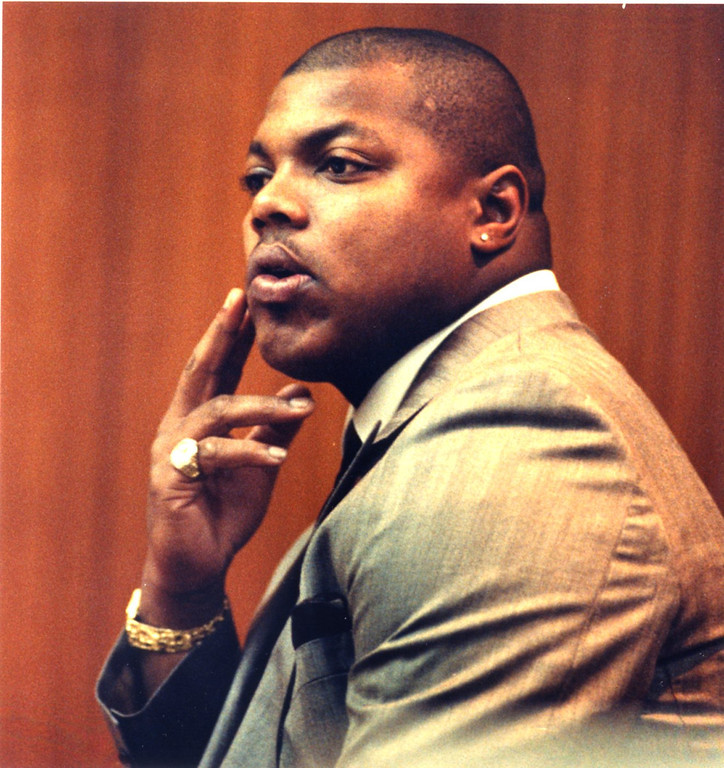 . FILE PHOTO: Dec. 5, 1989.  Detroit Lions player Reggie Rogers.  Rogers was found guilty in the deaths of two men in a drunk driving accident in Pontiac on October 20, 1988.   The Oakland Press/TIM THOMPSON