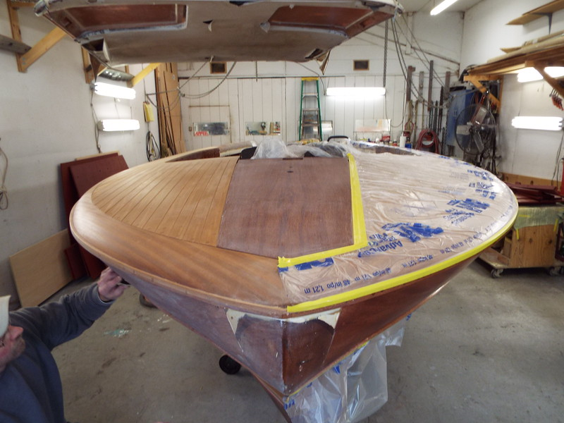 Front king plank with three coats of epoxy applied and sanded.