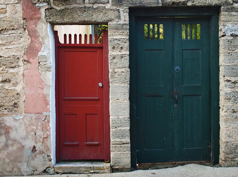'Ajacent Garden Gates' Old Town,  St Augustine, FL