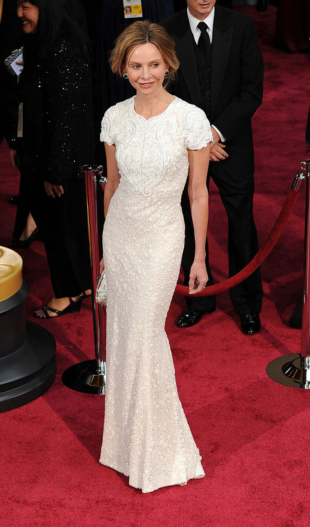 . Calista Flockhart attends the 86th Academy Awards at the Dolby Theatre in Hollywood, California on Sunday March 2, 2014 (Photo by John McCoy / Los Angeles Daily News)