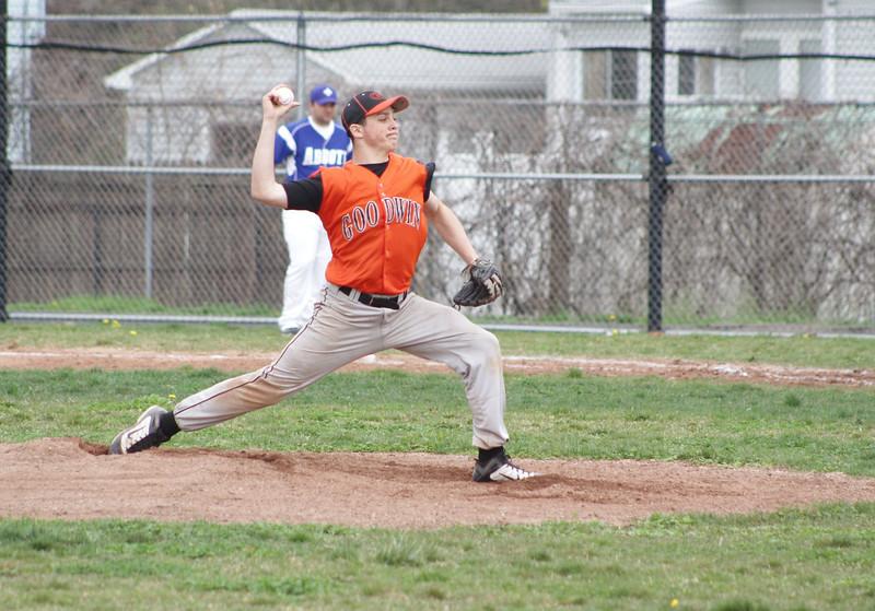 Samantha Burr Goodwin Tech's pitcher, Justin Lemanski, during the game against Abbott Tech on Wednesday afternoon. (4/27/11)