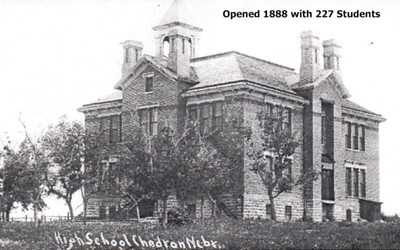 Chadron High School - undated photograph