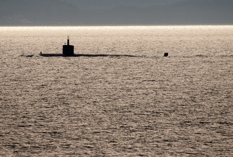 A closer view of the submarine
