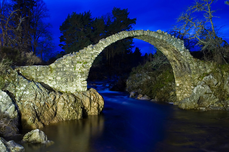Pack Horse Bridge at Carrbridge, Badenoch & Strathspey in Scotland.