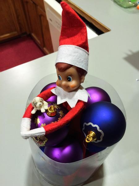 2014.12.08 - Ellken, the elf on a shelf