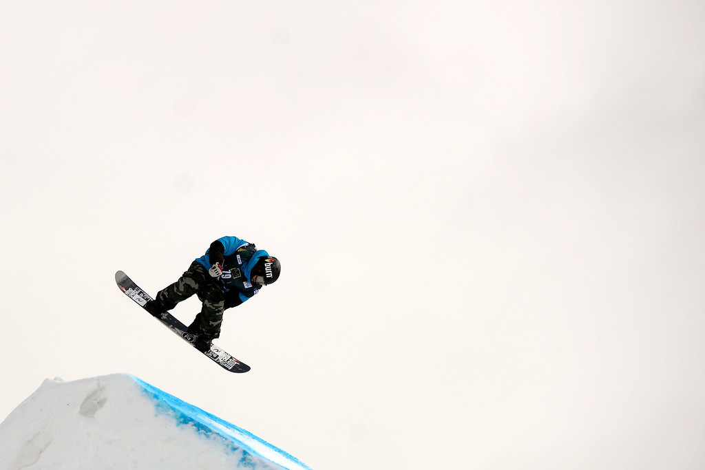 . Emil Andre Ulsletten  rides during the slopestyle finals of the Copper Mountain Grand Prix.  (Photo by AAron Ontiveroz/The Denver Post)