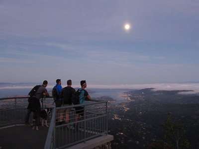 Mt. Tam Sunset/Moon Hike: Jul 25, 2018
