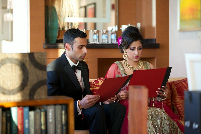 Le Cape Weddings - Indian Wedding - Day 4 - Megan and Karthik Exchanging Gifts 1.jpg