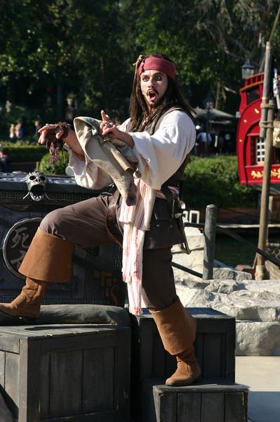 Jack Sparrow on Pirate Island.