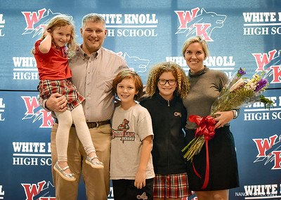WHITE KNOLL HIGH AD FAREWELL AND WELCOME