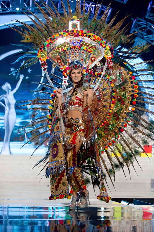 . Miss Mexico Karina Gonzalez performs onstage at the 2012 Miss Universe National Costume Show at PH Live in Las Vegas, Nevada December 14, 2012. The 89 Miss Universe Contestants will compete for the Diamond Nexus Crown on December 19, 2012. REUTERS/Darren Decker/Miss Universe Organization/Handout