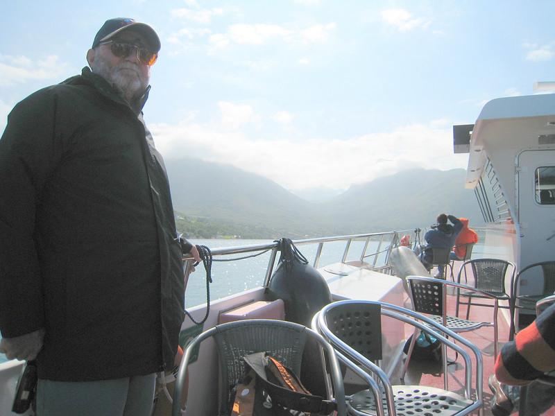 Crusing Hjorunfjord - pretty chilly!