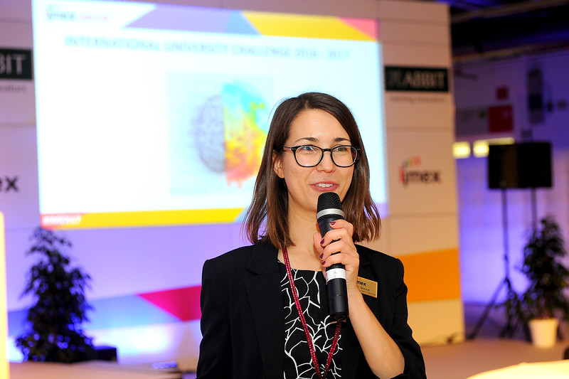 Sarah Skavron from IMEX speaking at the Future Leaders Forum