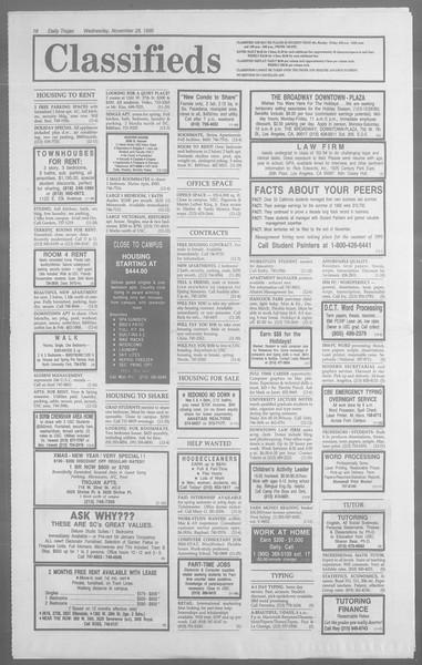 Daily Trojan, Vol. 113, No. 58, November 28, 1990