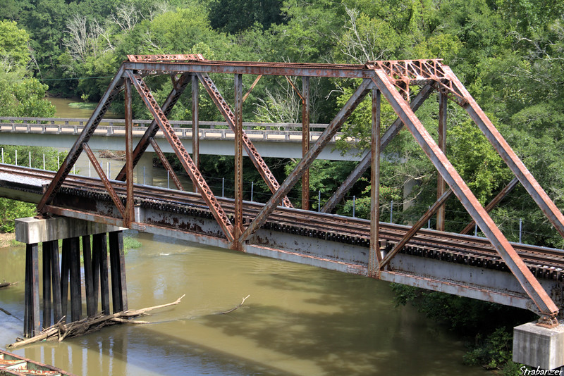 Tennessee Valley Railroad Museum Bridge carrying the Tyner Branch spur of CSX (Old Western &  Atlantic) line over the South Chickamauga Creek. Chattanooga, TN, 07/13/2019 This work is licensed under a Creative Commons Attribution- NonCommercial 4.0 International License