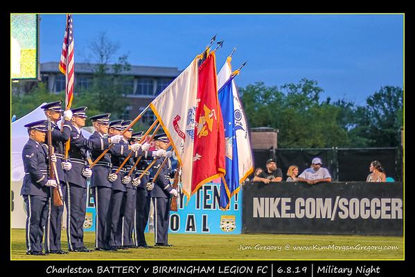BATTERY v Birmingham Legion FC   Military Night   6.8.19