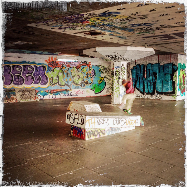 Skateboard ramp in the South Bank Undercroft (May, 2014)