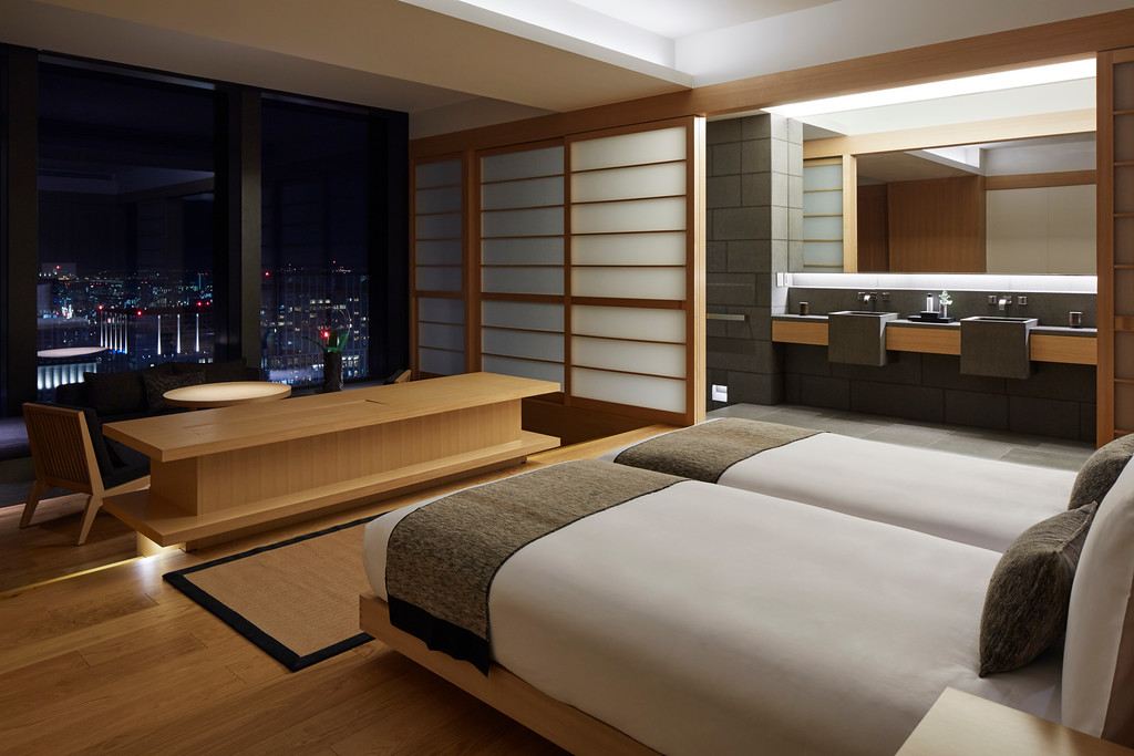 Guest room at the Aman Tokyo