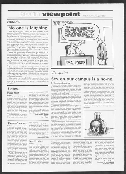 Daily Trojan, Vol. 100, No. 56, November 22, 1985