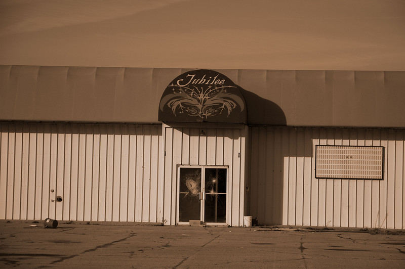 Old bowling alley-vandalized