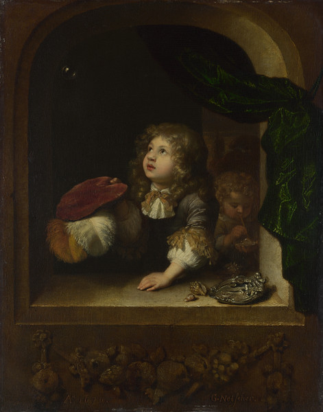 Two Boys blowing Bubbles