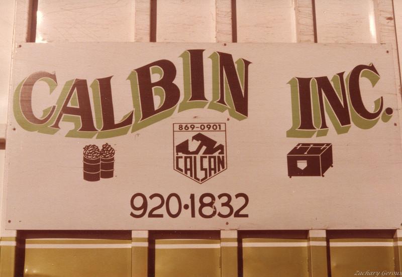 Cal Bin placard