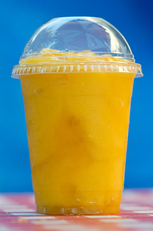 . Fresh mango smoothie from Cornucopia Cafe at L.A. County Fair in Pomona on Wednesday, Aug. 28, 2013. (SGVN/Staff photo by Watchara Phomicinda)