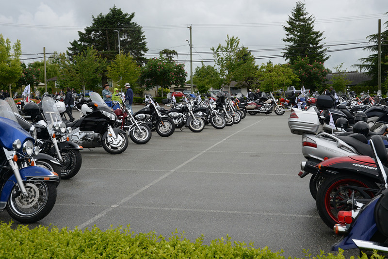 Despite the bit of rain, hundreds of bikes were out to support the fight against Prostate Cancer ... Thanks to Everyone!  $150,000 Raised for 2013 ... ALL funds go direct to Research, Education & Support! IN BC