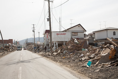 People after the tsunami
