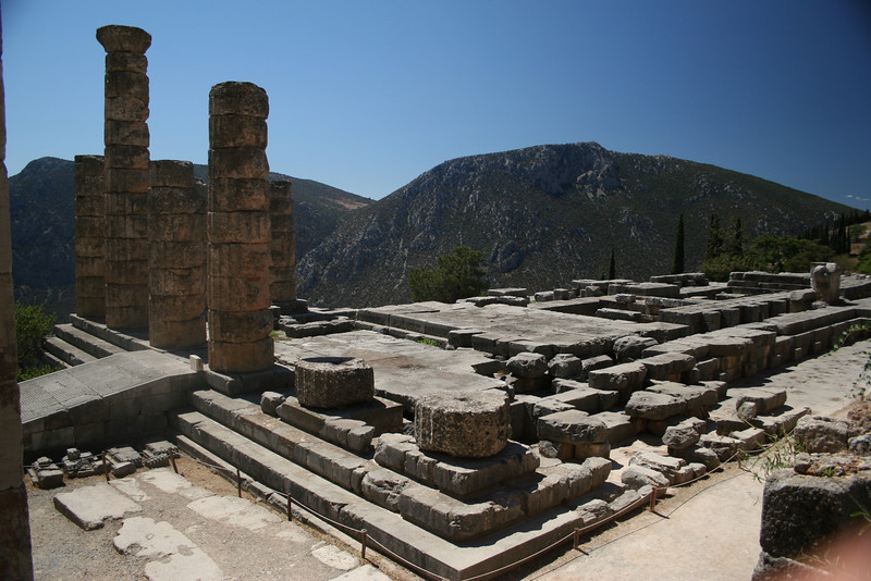 Delphi, Greece; The Temple of Apollo