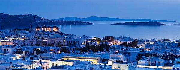 Santorini and Mykonos Greece