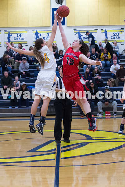 Girls Basketball - Varsity: Heritage vs. Loudoun County 1.17.15 (by Chas Sumser)