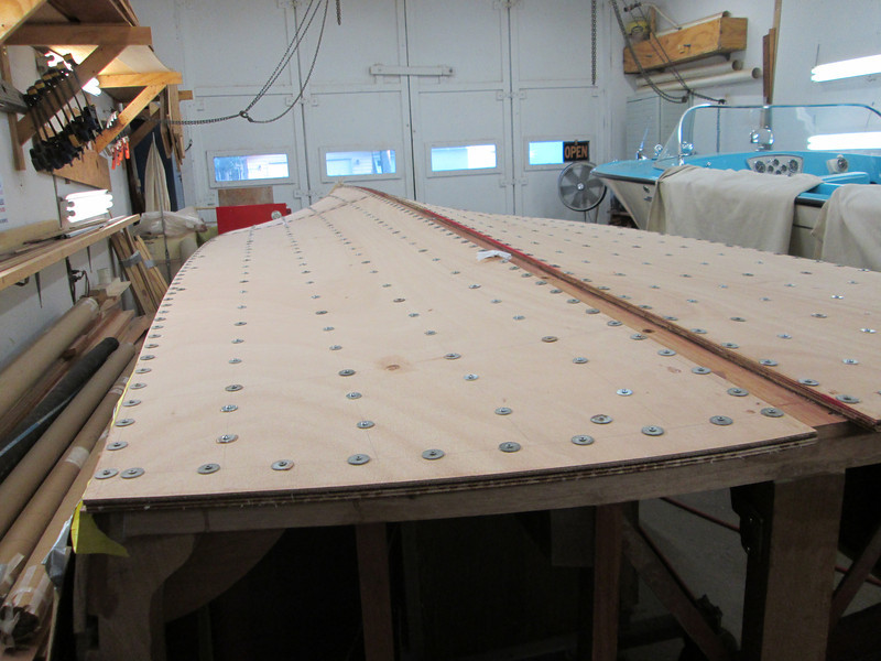 Rear starboard view of second layer installed.