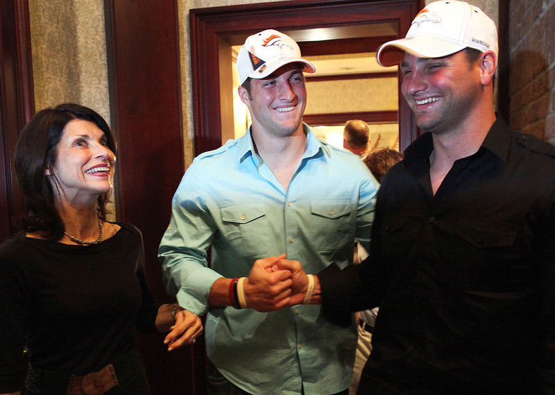 . Tim Tebow, Florida Selected 25th overall by the Broncos in 2010 Expected to fall to the second or third round in the 2010 draft, the Broncos took a chance by selecting Tebow and his unconventional throwing method in the first round. He proceeded to enjoy a storybook 2011 season, even leading the Broncos to a playoff win over the Steelers. The ensuing postseason, Denver signed Peyton Manning and traded Tebow to the Jets , where he spent much of the season running gimmick plays or standing on the bench. His NFL future is now unclear. GRADE: F. Using a first-round pick on him looked back on draft night, and it looks even worse now. (Doug Finger/The Gainesville Sun)
