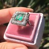 1.60ctw Emerald and Diamond Cocktail Ring 9