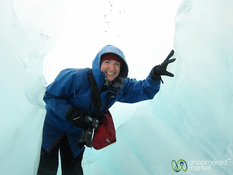 Audrey at Franz Josef Glacier - South Island, New Zealand