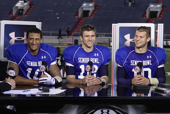 Senior Bowl Week 2011 with Colin Kaepernick